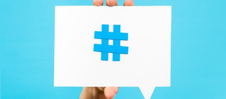 uso correto das hashtag
